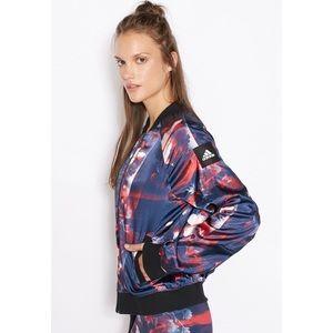 Adidas Women's Floral Bomber Jacket